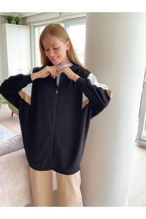 LC Waikiki Kadın Yeni Siyah Sweatshirt 0SO784Z8