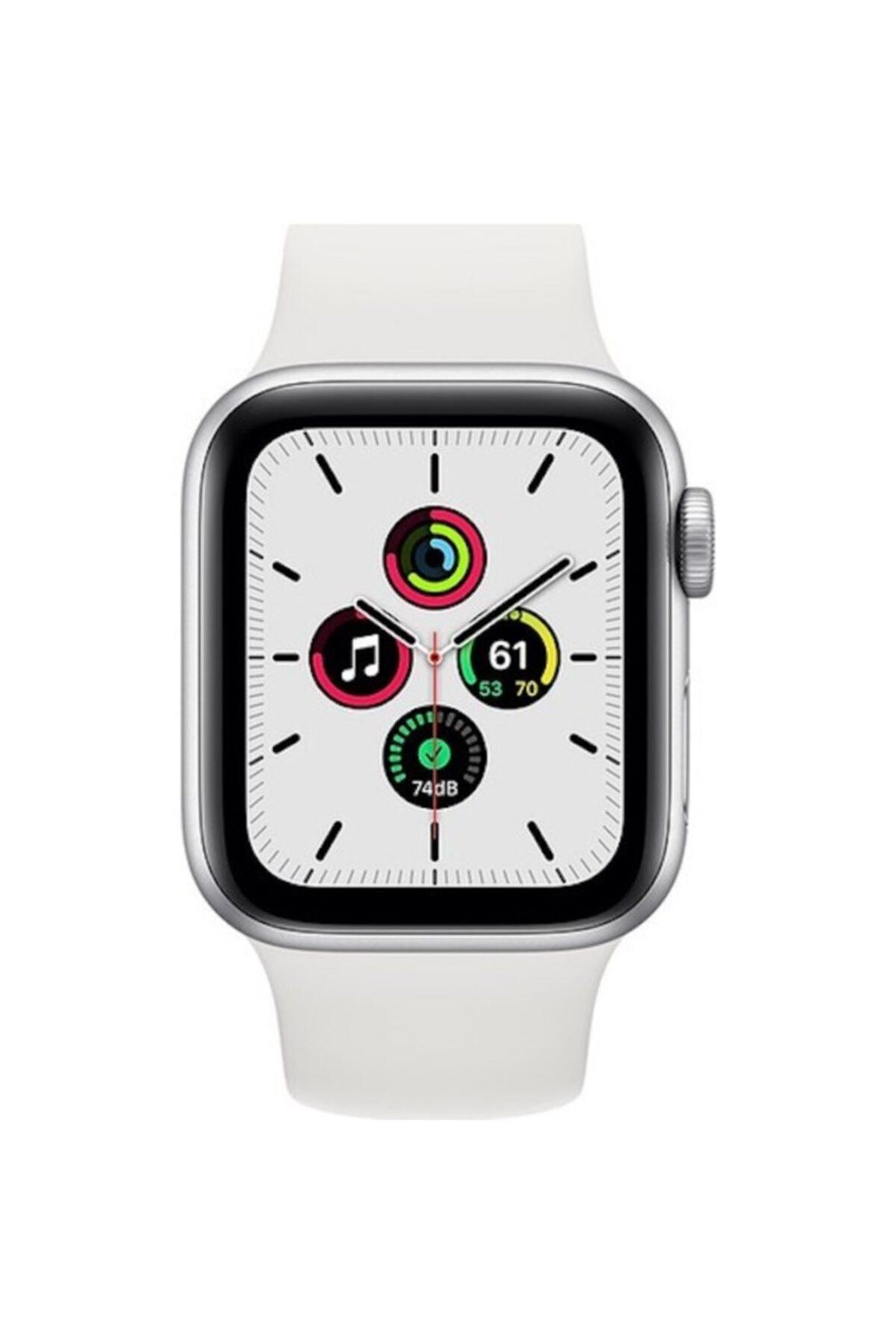 Apple Watch Se Gps 40 Mm Gümüş Rengi Alüminyum Kasa Ve Beyaz Spor Kordon 2
