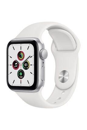Apple Watch Se Gps 44 Mm Gümüş Rengi Alüminyum Kasa Ve Beyaz Spor Kordon