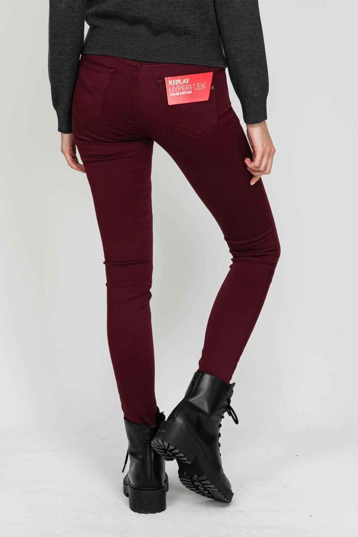 Replay Kadın Bordo Jeans 2