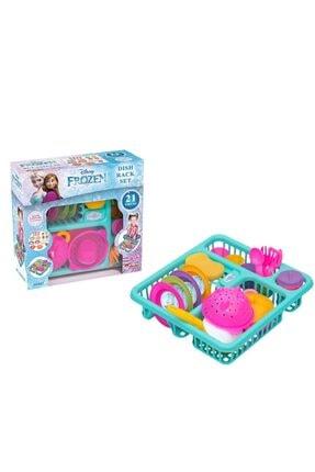 DEDE Frozen Bulaşık Oyun Seti Oyuncak Mutfak Sepeti