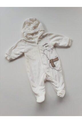 Bebetto Unisex Bej Kapşonlu Bebek Tulum