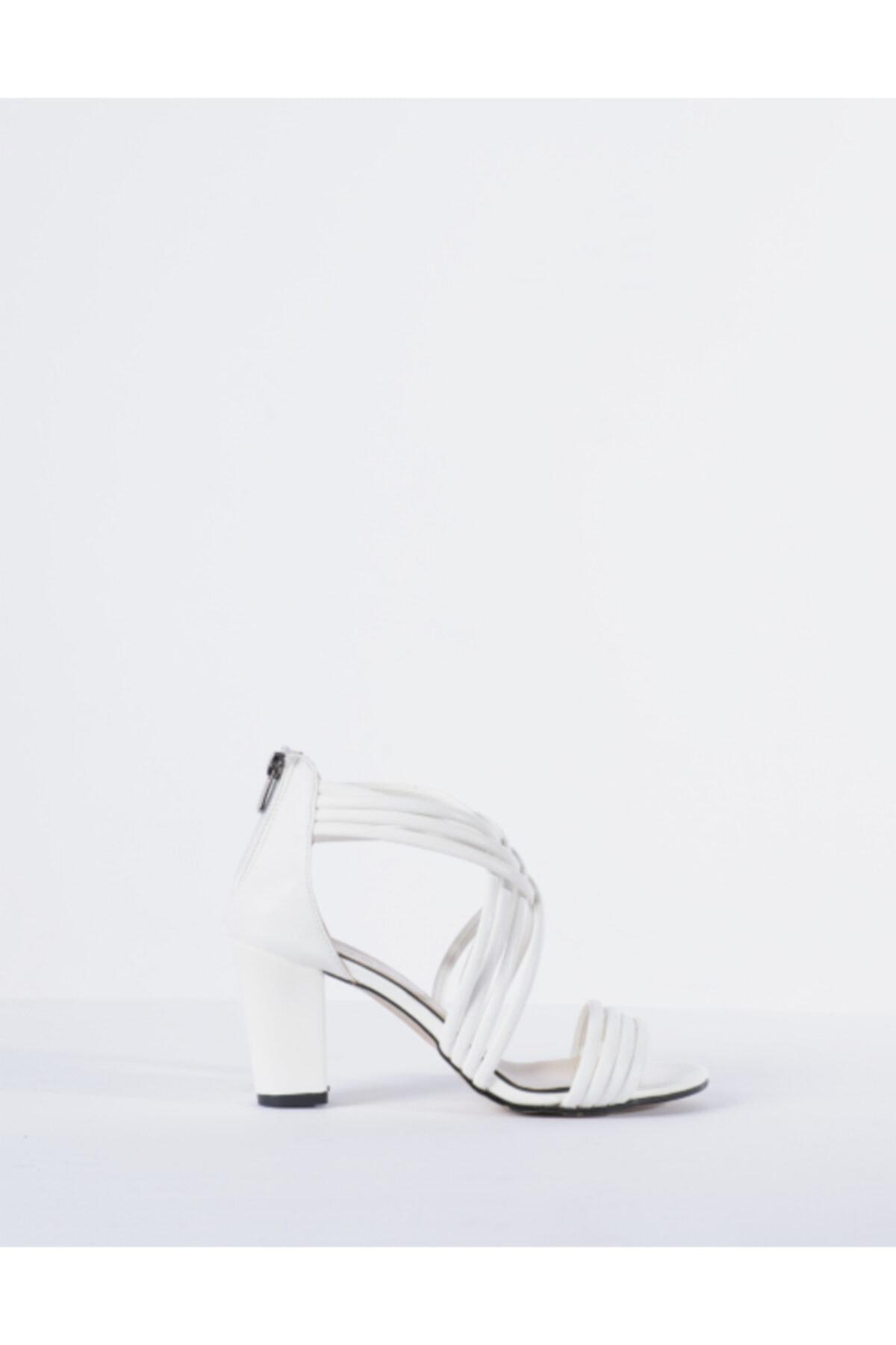 Vision Kadın Beyaz Topuklu Ayakkabı 1