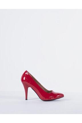 Vision Kadın Kırmızı  Rugan Topuklu Ayakkabı
