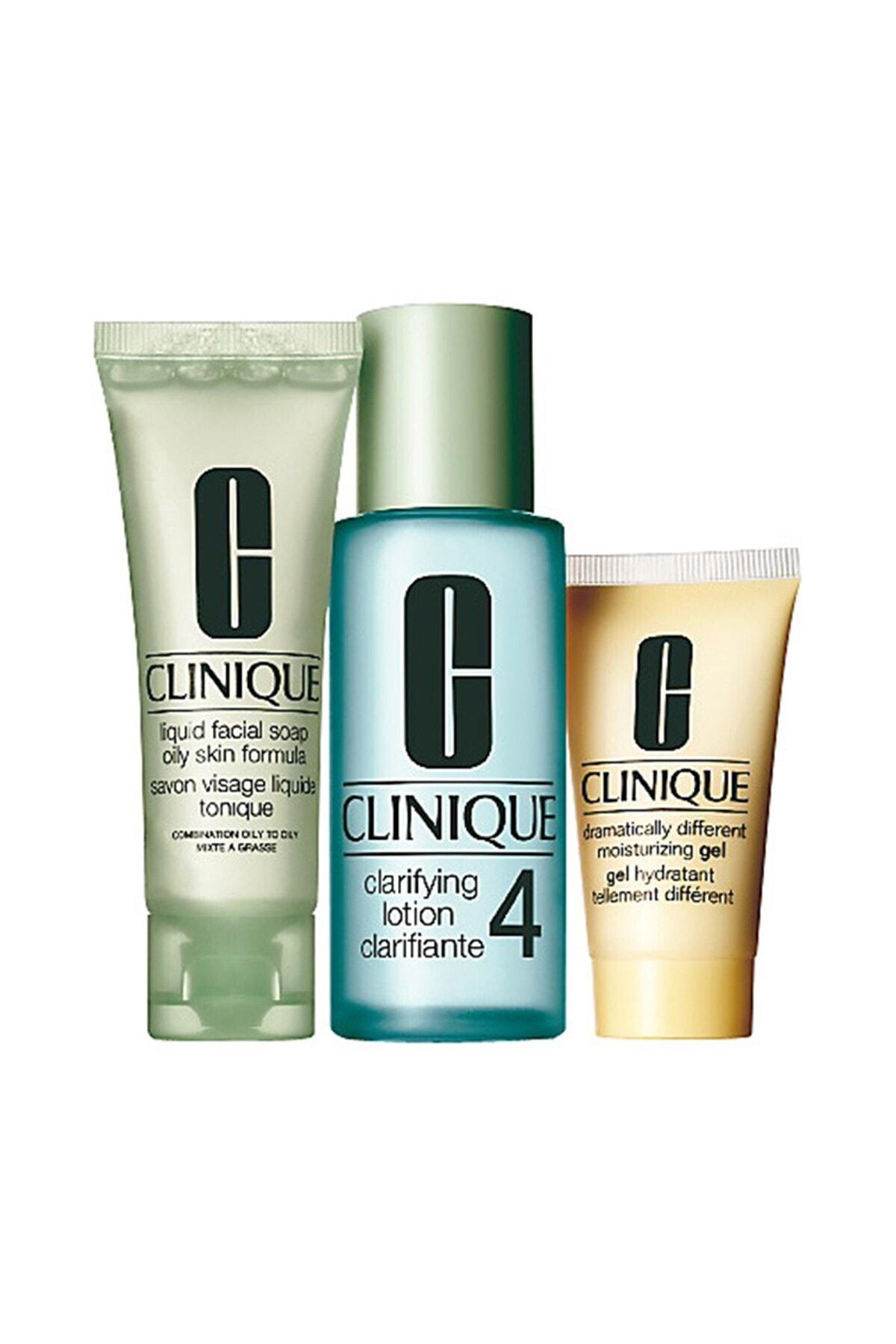 Clinique 3 Adımlı Cilt Bakım Seti - Cilt Tipi 4 Intro Kit Çok Yağlı Ciltler 020714464080 1
