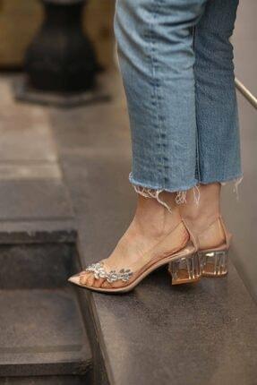Cömert Ayakkabı Kadın Turuncu Topuklu Ayakkabı
