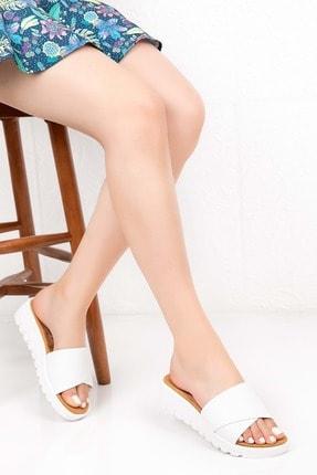 Gondol Kadın Beyaz Ortopedik Taban Terlik 40 Adn.115