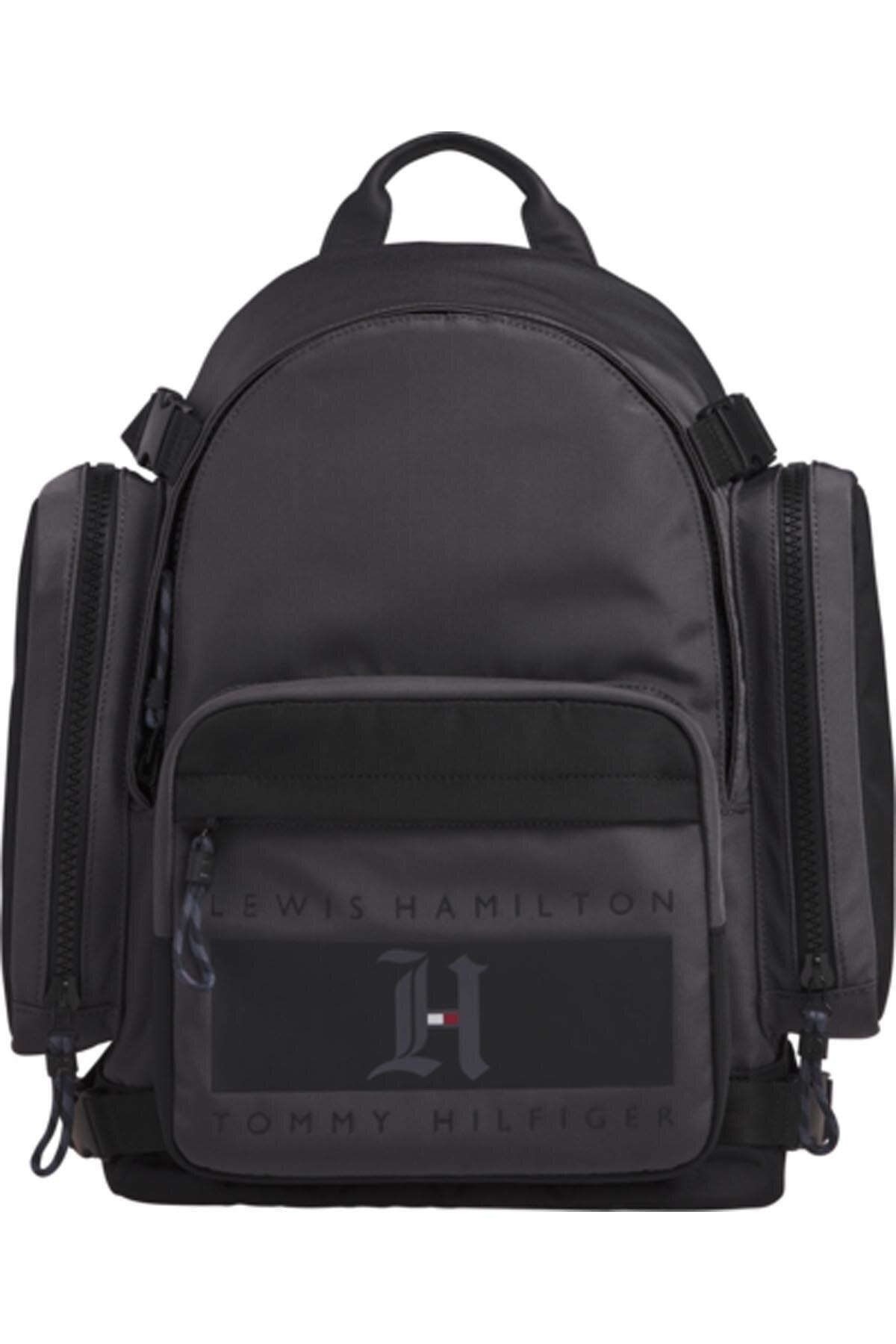 Tommy Hilfiger Erkek Gri Lh Nylon Backpack Sırt Çantası 1