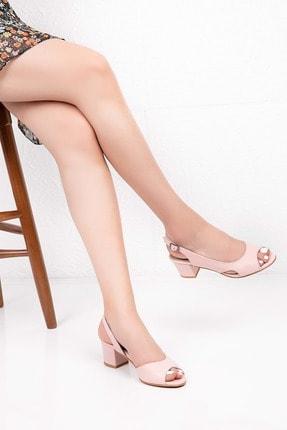 Gondol Kadın Pembe Hakiki Deri Topuklu Ayakkabı 38 Şhn.0236