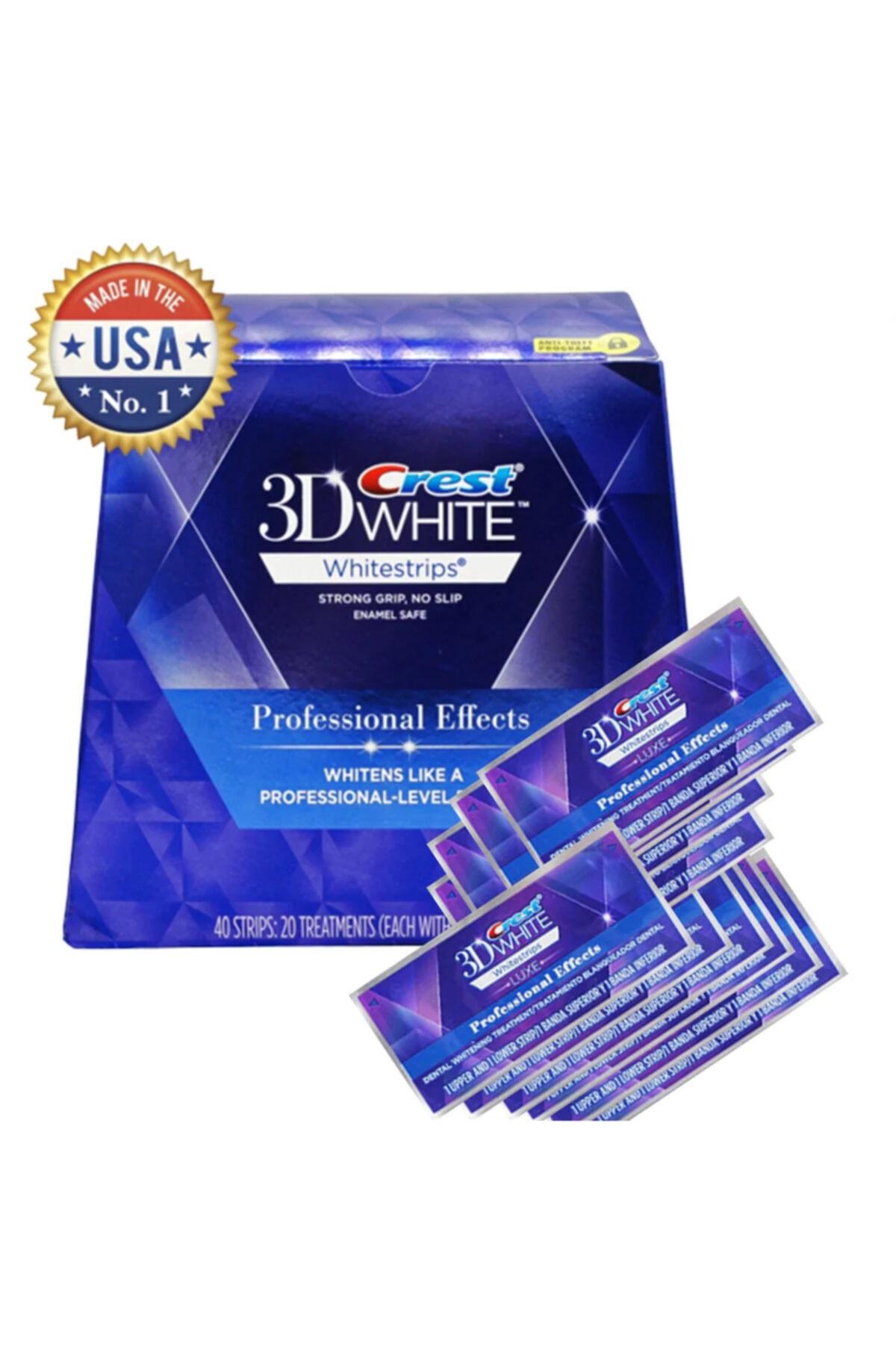 CREST 3d White Professional Effects Diş Beyazlatma Bantları (20 Bant) 1