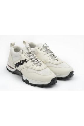 Ermenegildo Zegna Erkek Beyaz Hakiki Deri Sneakers