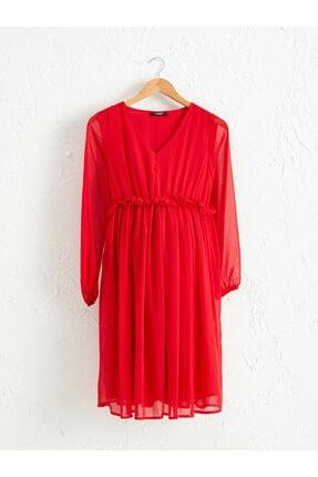 LC Waikiki Kadın Kırmızı Elbise
