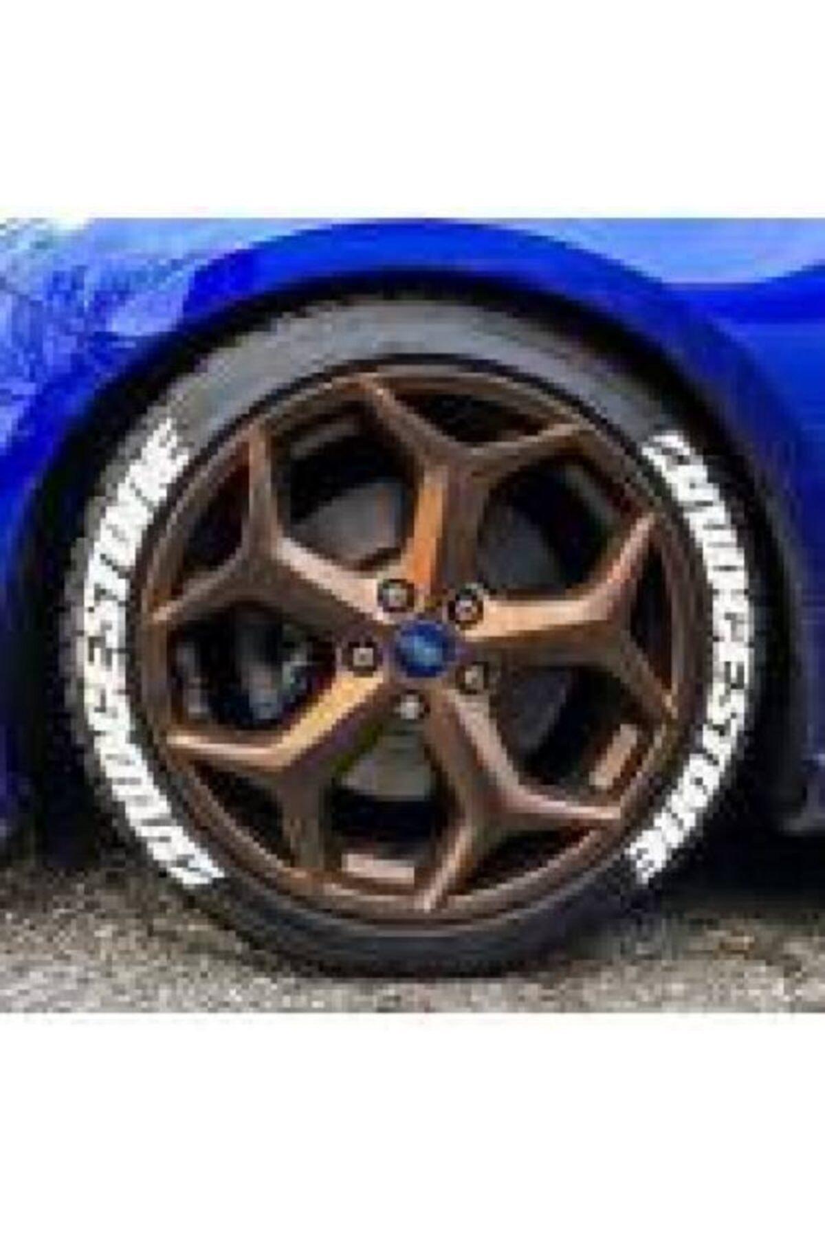 Bridgestone Lastik Yazısı 4x Brıdgestone Orijinal 1.sınıf Kalite Solmaz Araç Motorsiklet Yazı Stiker Seti 1