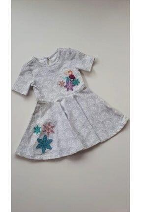 Frozen Kız Bebek Beyaz Lisanslı Karlar Kraliçesi Elbise