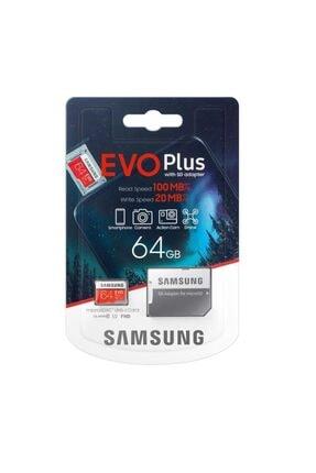 Samsung 64gb Evo Plus Micro Sd Hafıza Kartı C10 U1 4k 100mb/20sn Mb-mc64ha/tr