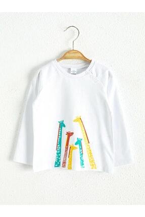 LC Waikiki Erkek Bebek Ekru T-shirt