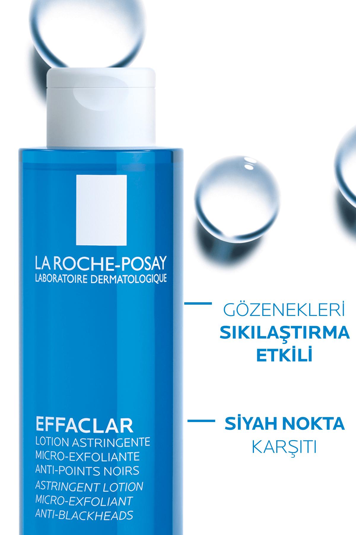 La Roche Posay Effaclar Mikro Soyucu Tonik Yağlı/Akneye Eğilim Gösteren Ciltler Ciltler Gözenek Sıkılaştırıcı 200ml 2