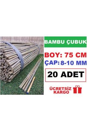 Ekodoğa Bambu Çubuk 75 Cm 20 Adet 8-10 Mm Bambu Çubuğu Bambu Çubukları Bitki Destek Çubuğu