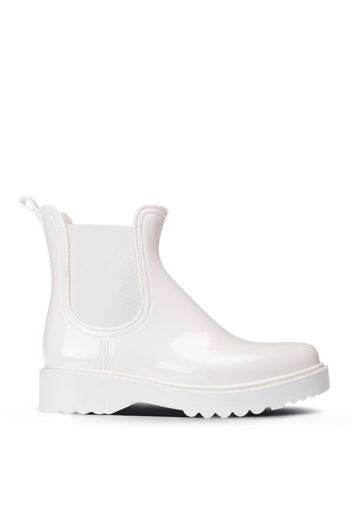 Deery Beyaz Kadın Yağmur Botu 1