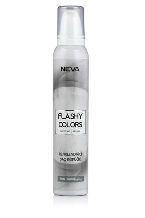 Flashy Colors Geçici Köpük Saç Boyası - Gümüş