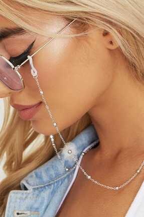 New Obsessions Kadın Beyaz Fora Gözlük Zinciri