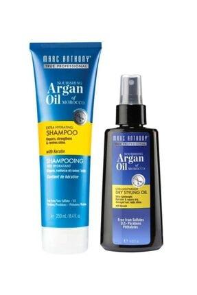 MARC ANTHONY Argan Oil Şampuan 250 Ml + Argan Saç Bakım Yağ 120 Ml