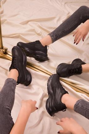 SOHO Siyah-Siyah Kadın Sneaker 15564