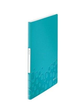Leitz 4631 Active Wow Sunum Dosyası 20 Poşetli Metalik - Buz Mavisi