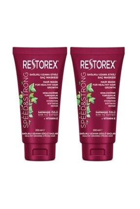 Restorex Onarıcı Saç Maskesi Sağlıklı Uzama Etkisi 200ml X 2 Adet