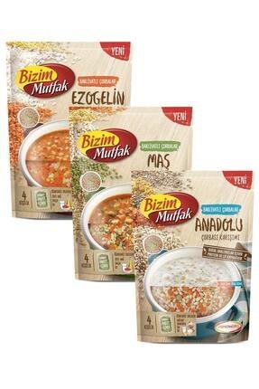 Bizim Mutfak Bakliyatlı Çorba Karışımıanadolu-maş-ezogelin Çorbaları 3'lü Paket