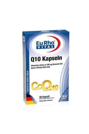 Eurho Vital Q10 30 Kapsül Antioksidan Skt:03/2022
