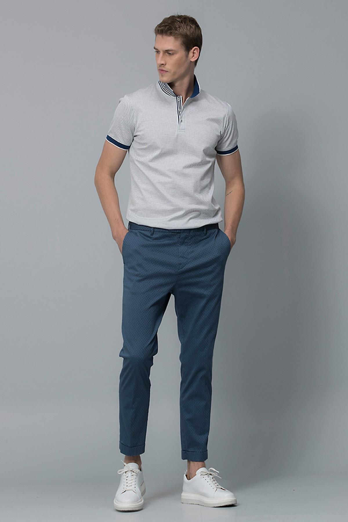 Lufian Vicent Smart Chino Pantolon Slim Fit Açık Lacivert 1