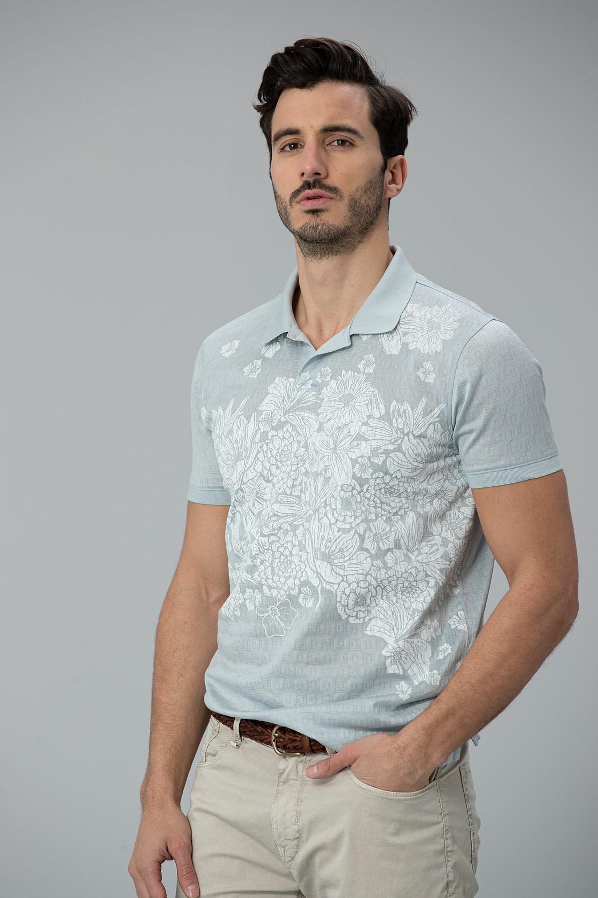 Lufian Matera Spor Polo T- Shirt Açık Nane