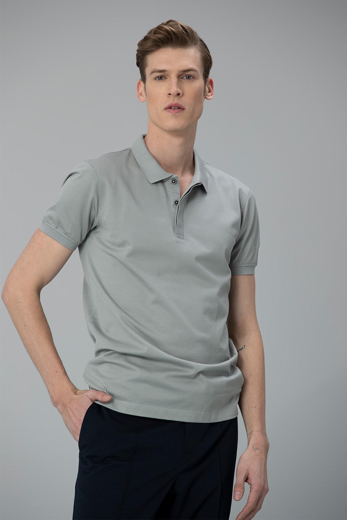 Lufian Biella Spor Polo T- Shirt Nane Yeşili