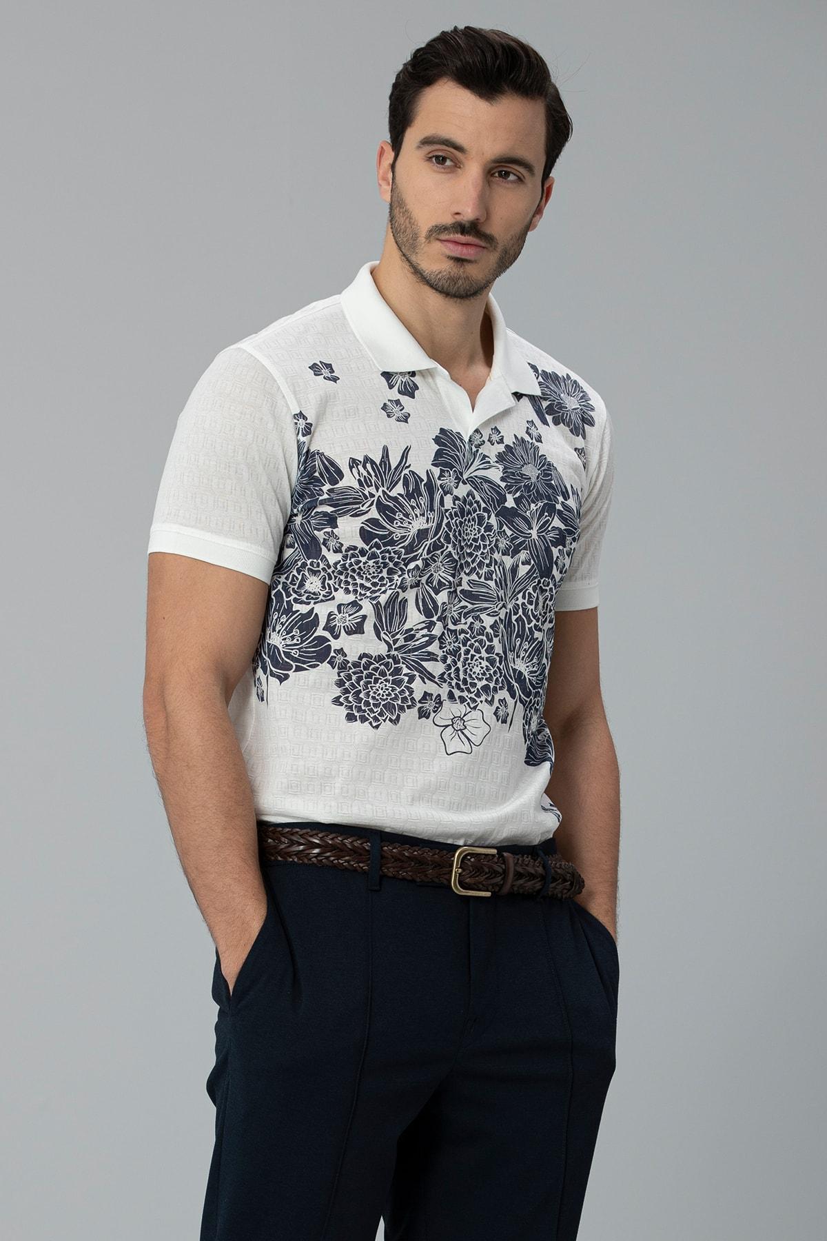 Lufian Matera Spor Polo T- Shirt Kırık Beyaz