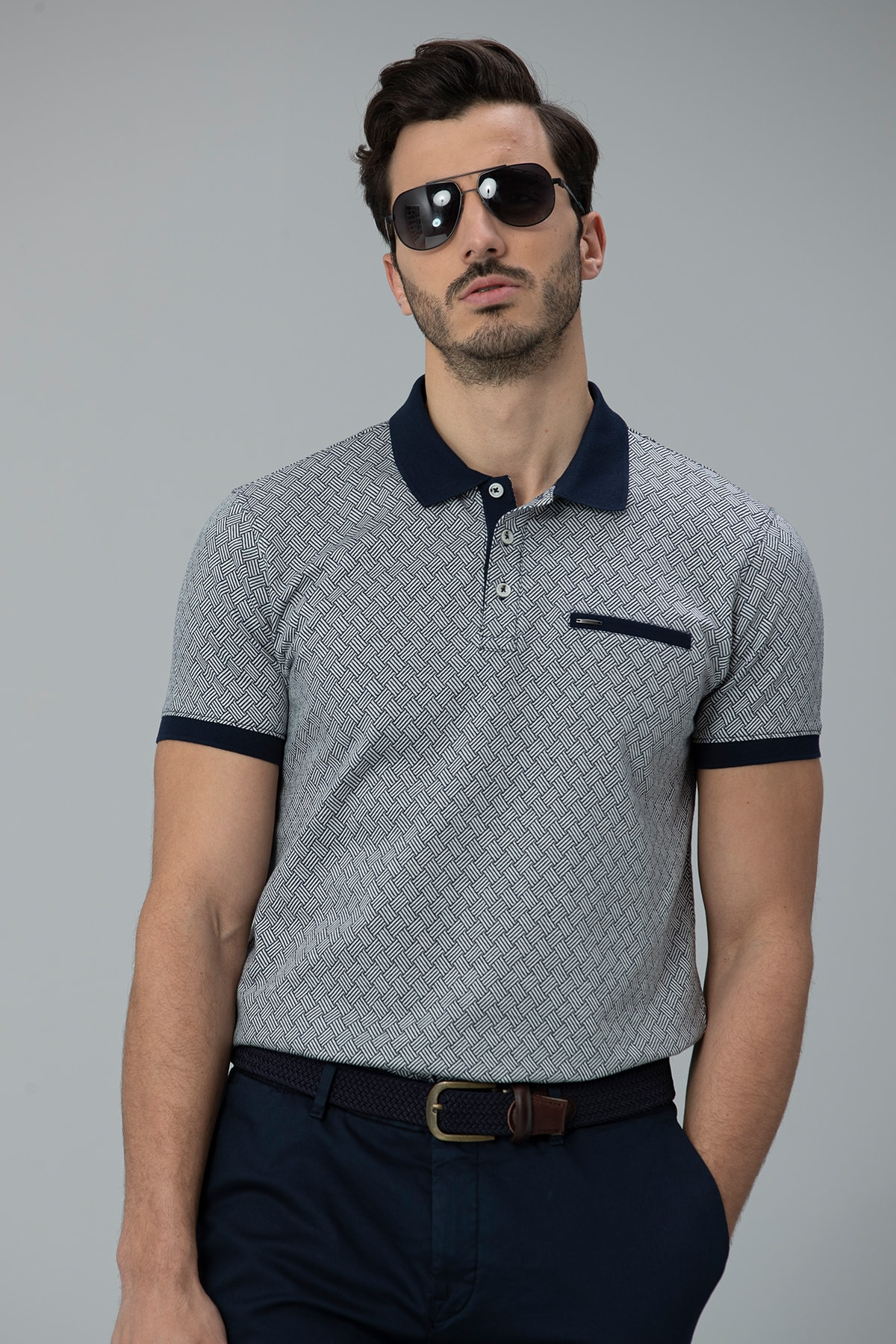 Lufian Sammar Spor Polo T- Shirt Lacivert