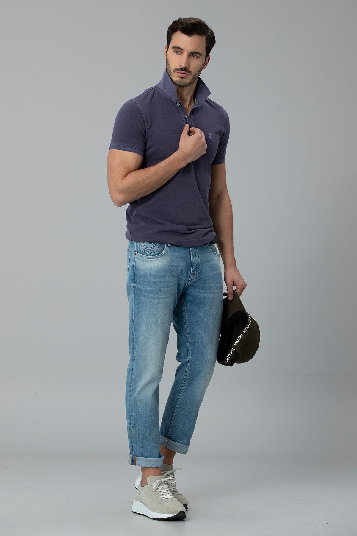 Lufian Ege Smart Jean Pantolon Regular Fit Gök Mavi
