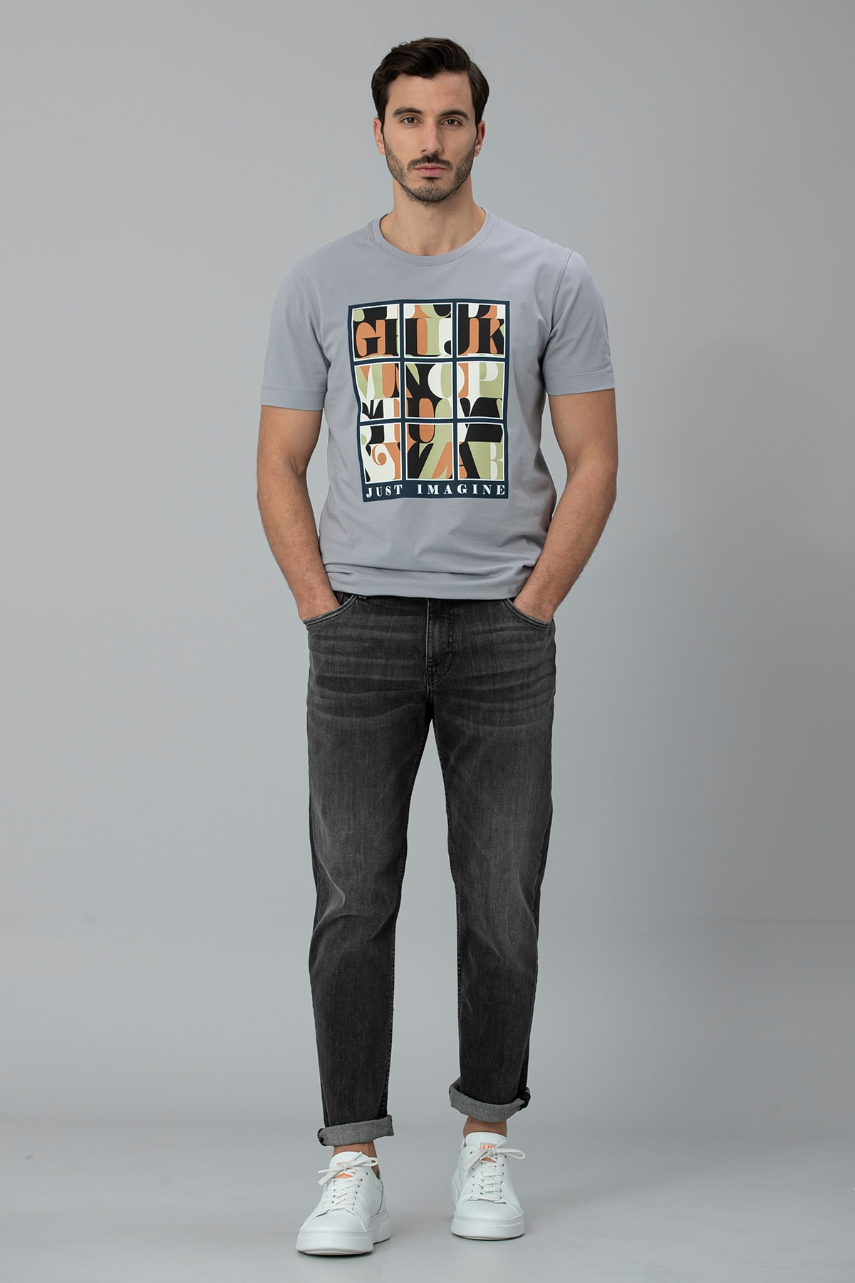 Lufian Regular Fit Farar Smart Jean Pantolon