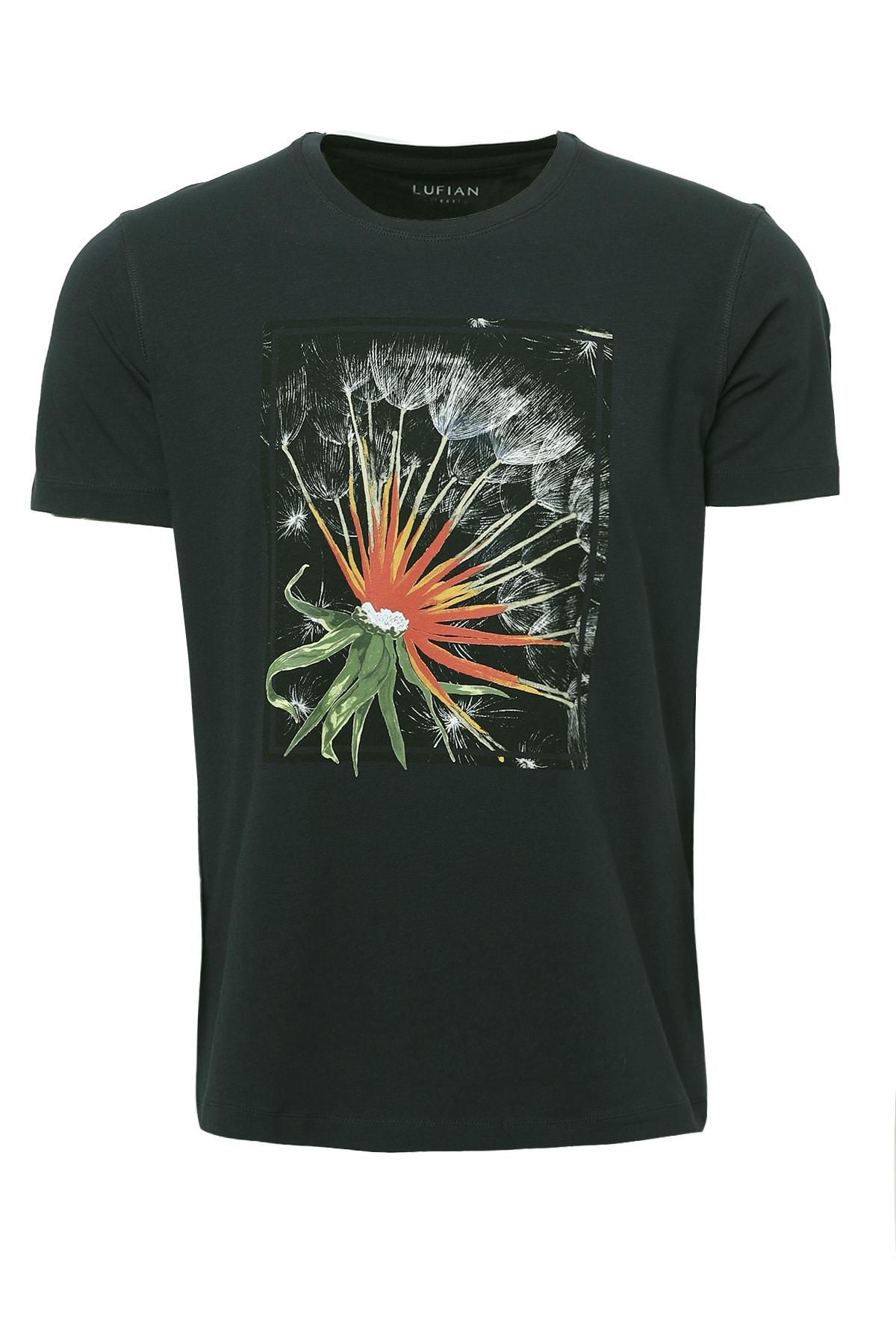 Lufian Felıta Modern Grafik T- Shirt Yeşil
