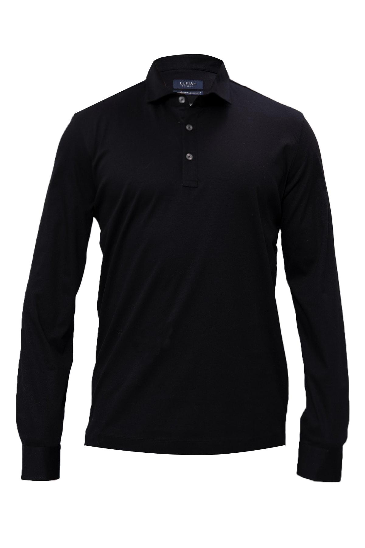 Lufian Erkek Lacivert Asil Spor Polo T- Shirt 111040064100200