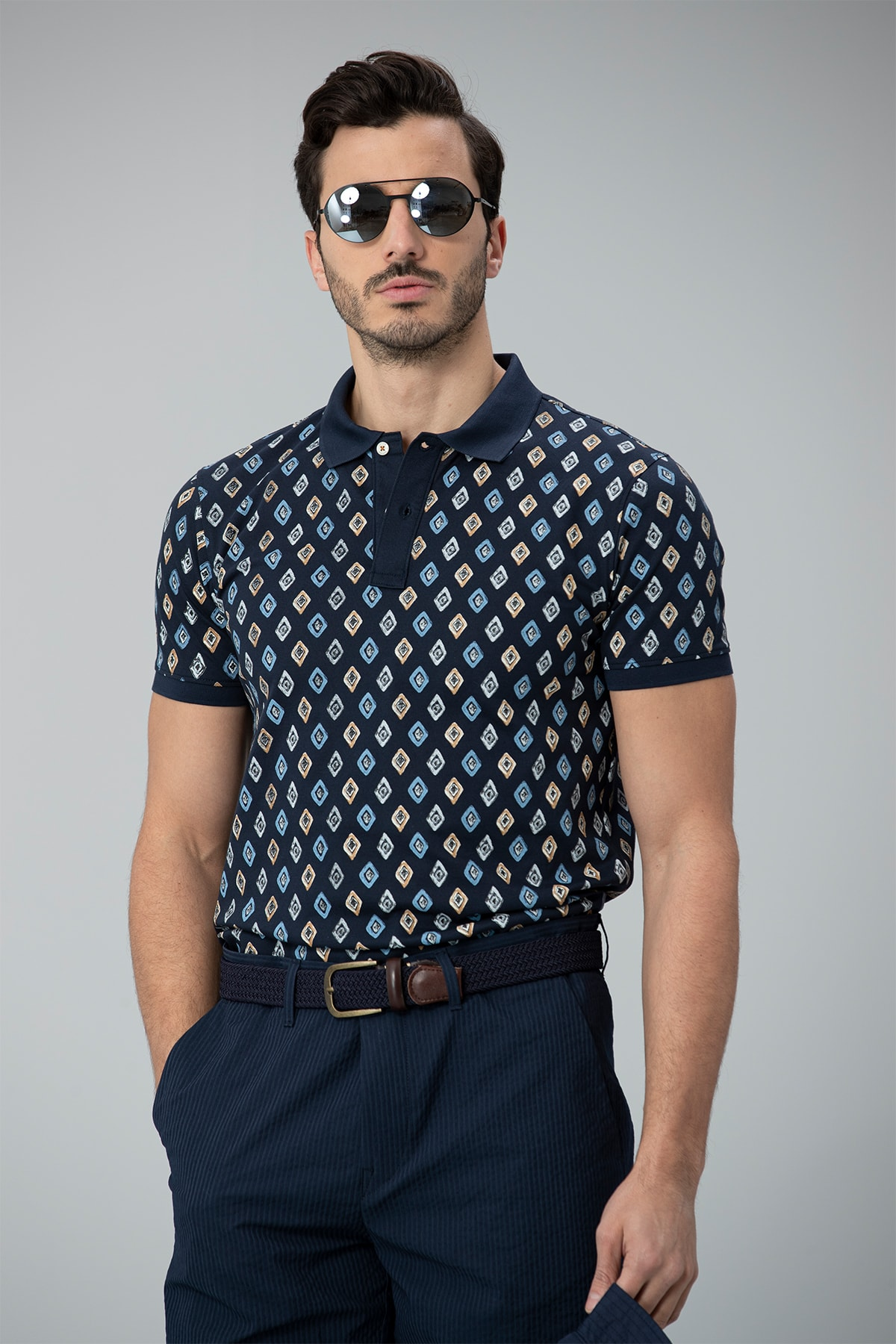 Lufian Saraton Spor Polo T- Shirt Lacivert