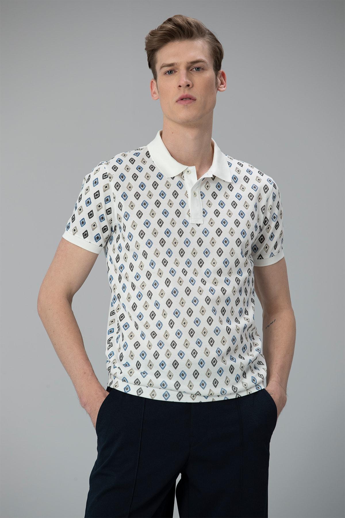 Lufian Saraton Spor Polo T- Shirt Kırık Beyaz