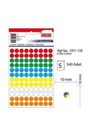 Tanex Ofc-128 Termal Etiket Renkli Yuvarlak 10 Mm