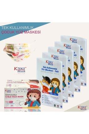 CES Baskılı Çocuk Maskesi Kteks Mask