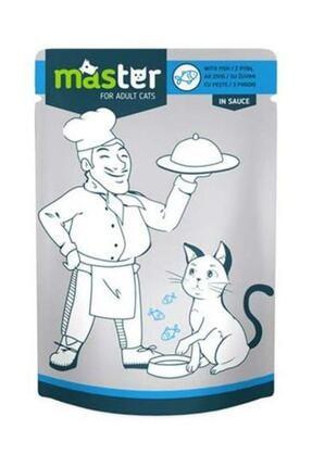 Master Balıklı Pouch Yaş Kedi Maması 80 Gr