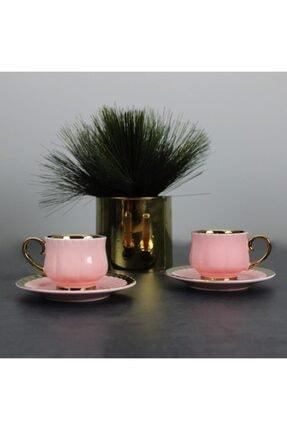 AROW Pembe Porselen 6lı Kahve Takımı