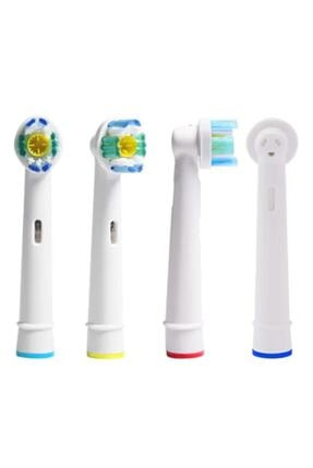 SB Oral - B Şarjlı Ve Pilli Diş Fırçaları Ile Uyumlu 4 Adet Yedek Başlık - Eb 18a