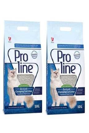 Pro Line Naturel Parfümsüz Kedi Kumu 10 Lt X 2 Adet