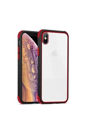 dijimedia Iphone Xs Max Siyah Kırmızı  Tiron Kapak
