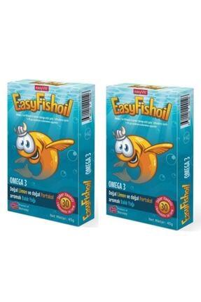 Easy Fishoil Omega 3 Balık Yağı Çiğnenebilir 30 Tablet X2 Adet